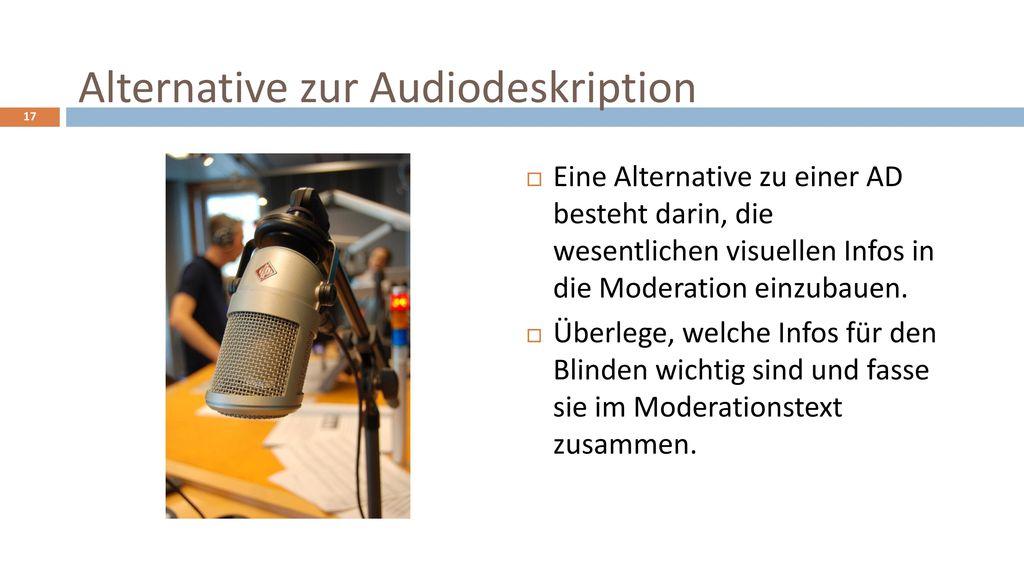 Alternative zur Audiodeskription