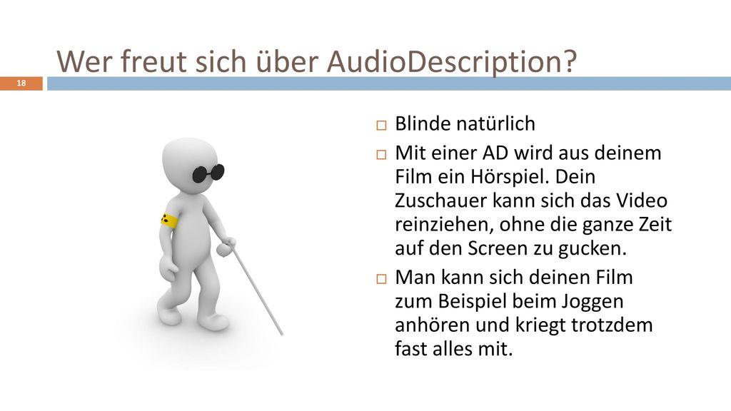 Wer freut sich über AudioDescription