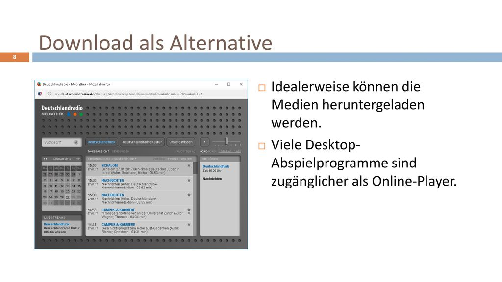 Download als Alternative