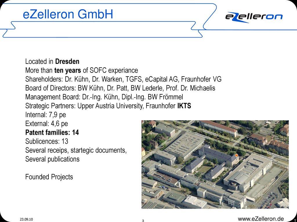 eZelleron GmbH Located in Dresden