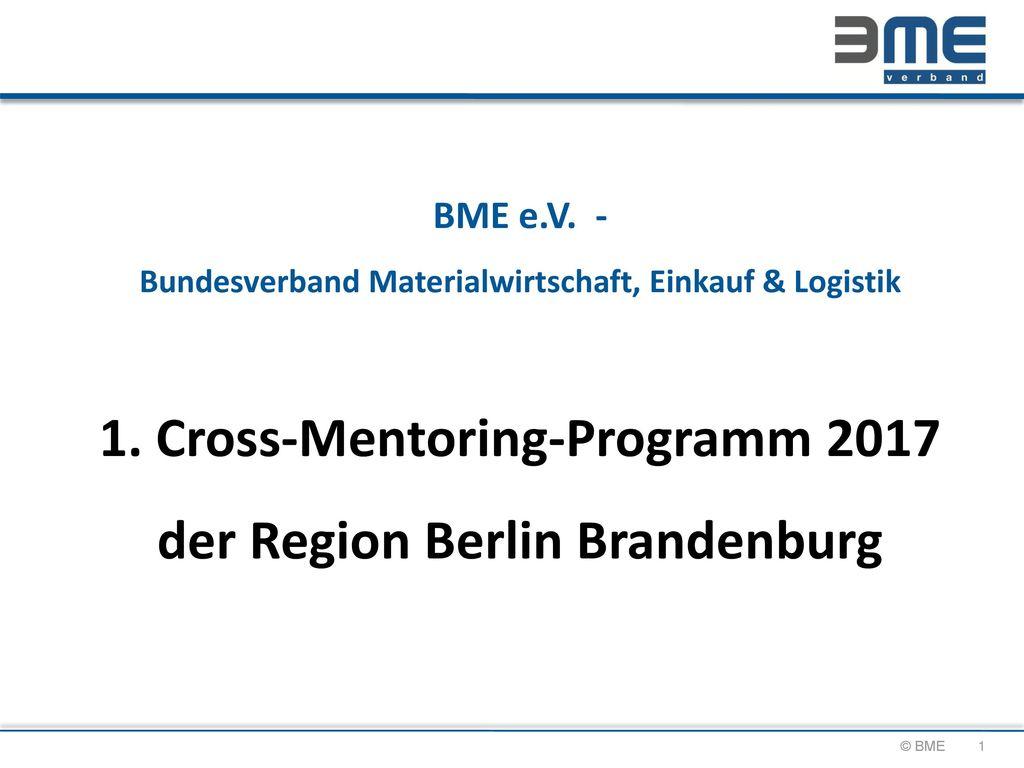 BME e. V. - Bundesverband Materialwirtschaft, Einkauf & Logistik 1