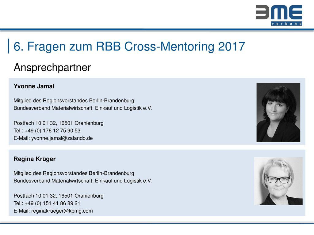 6. Fragen zum RBB Cross-Mentoring 2017