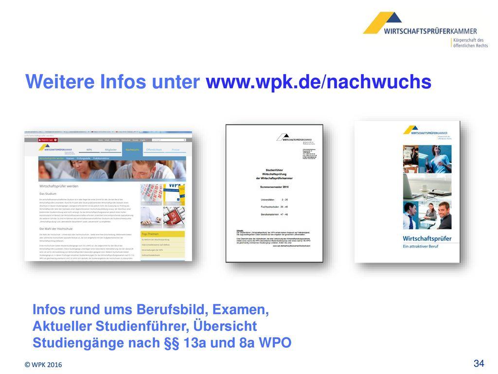 Weitere Infos unter www.wpk.de/nachwuchs