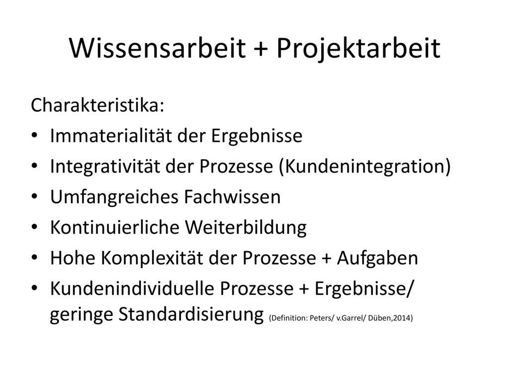 Wissensarbeit + Projektarbeit