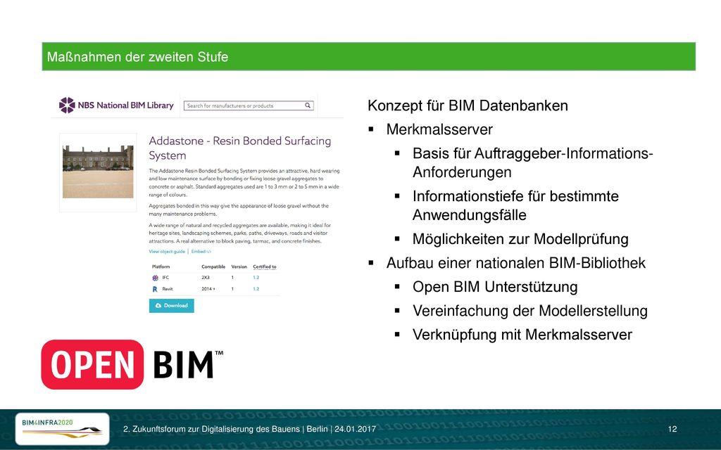 Konzept für BIM Datenbanken Merkmalsserver