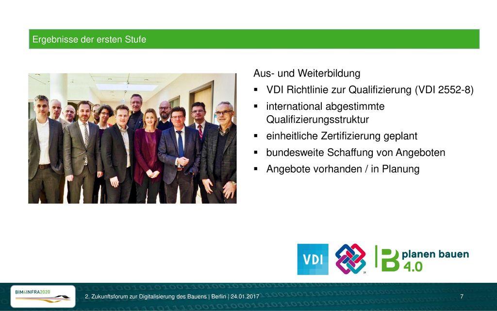 Aus- und Weiterbildung VDI Richtlinie zur Qualifizierung (VDI 2552-8)