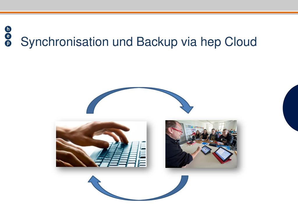 Synchronisation und Backup via hep Cloud