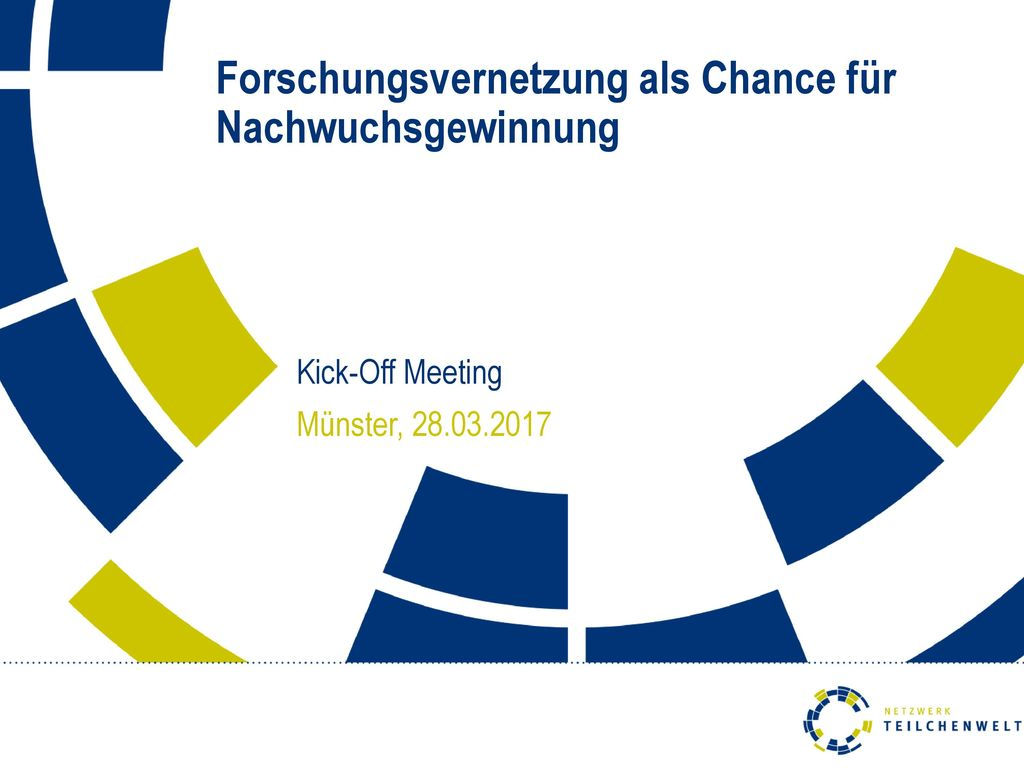 Kick-Off Meeting Münster, 28.03.2017