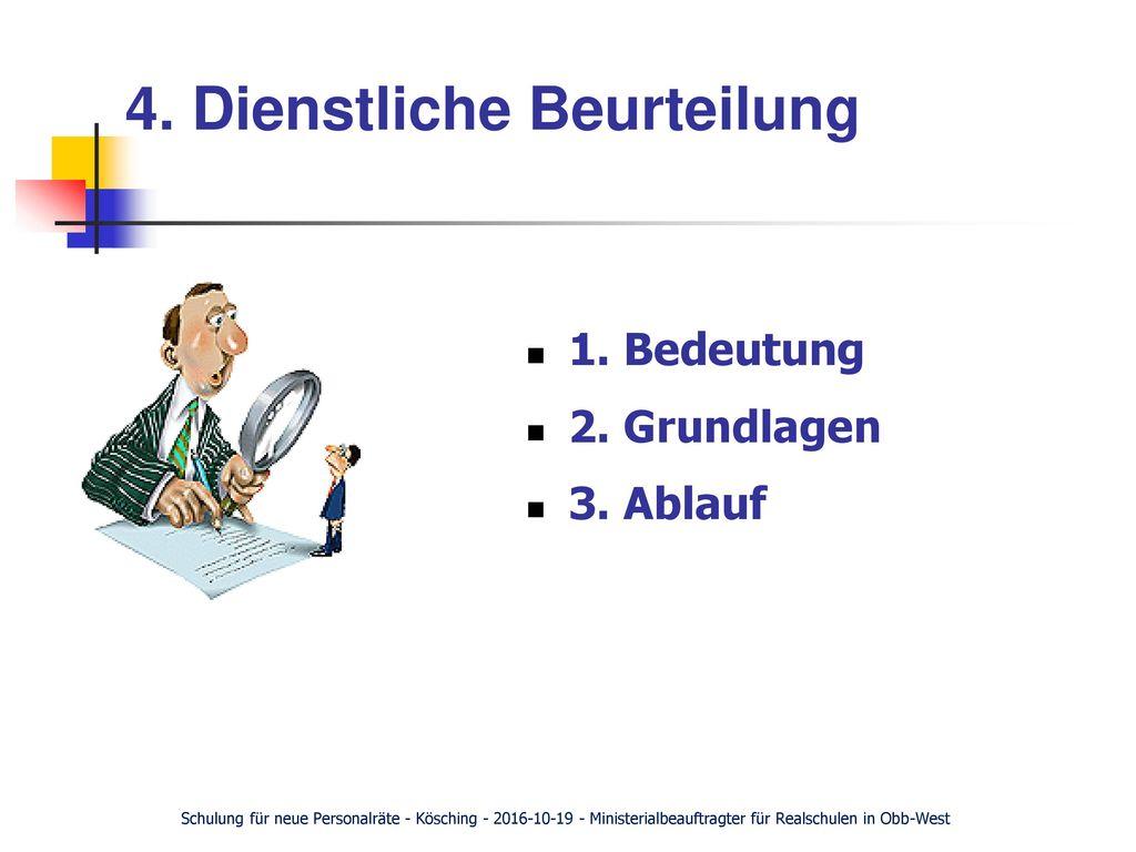 4. Dienstliche Beurteilung