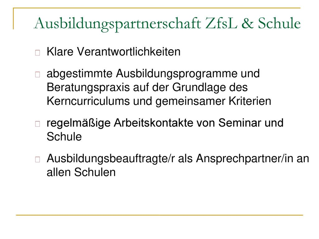 Ausbildungspartnerschaft ZfsL & Schule