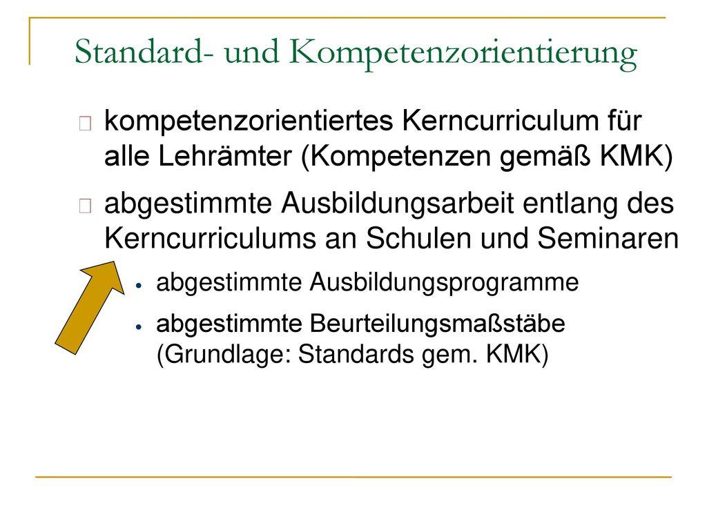 Standard- und Kompetenzorientierung