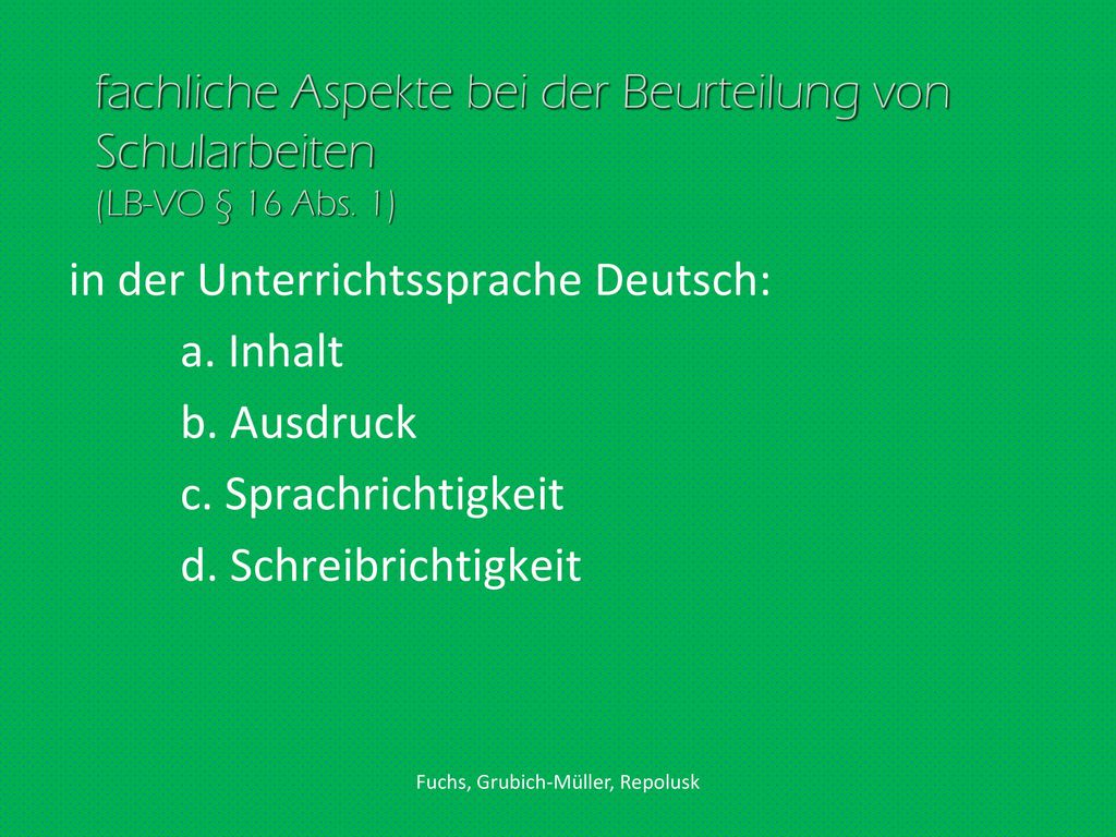 Fuchs, Grubich-Müller, Repolusk