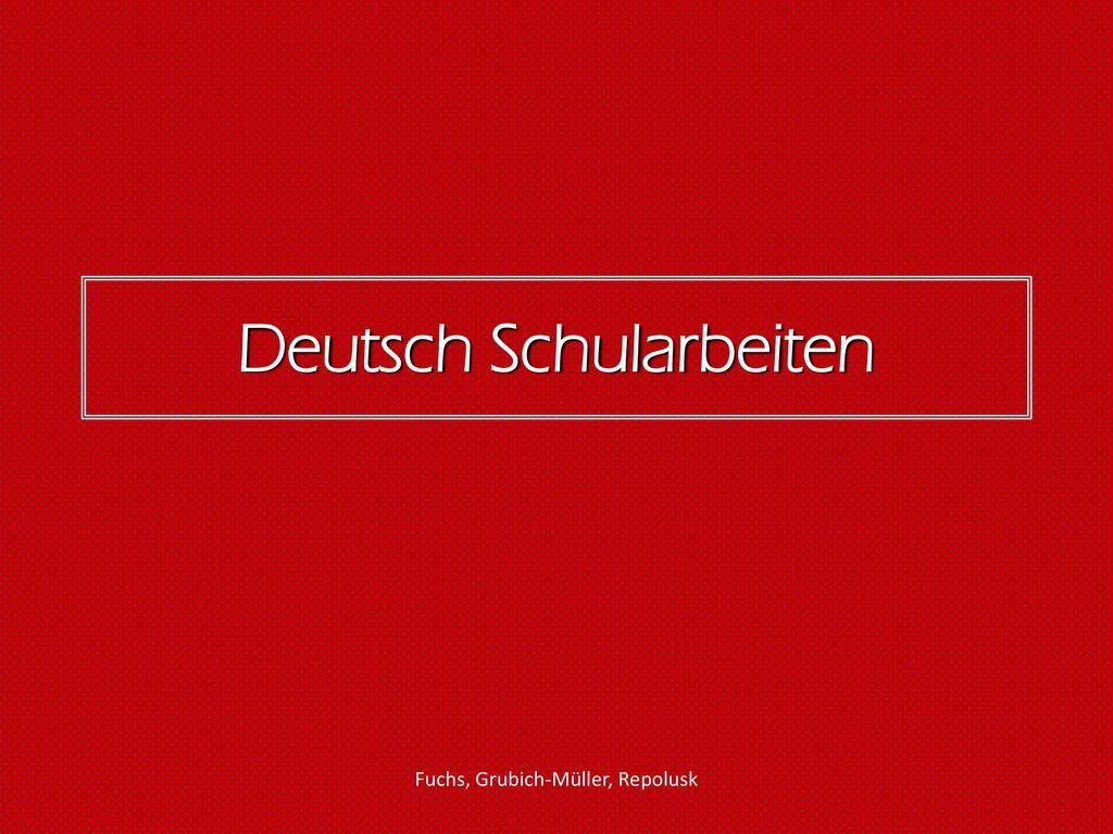 Deutsch Schularbeiten