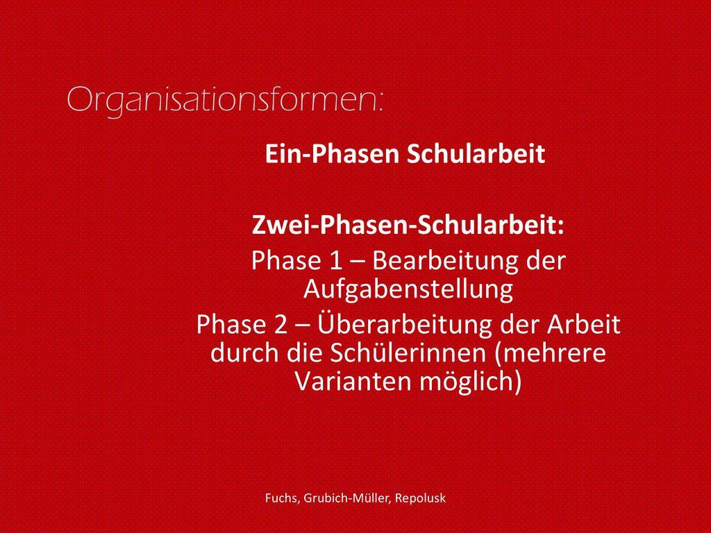 Organisationsformen: