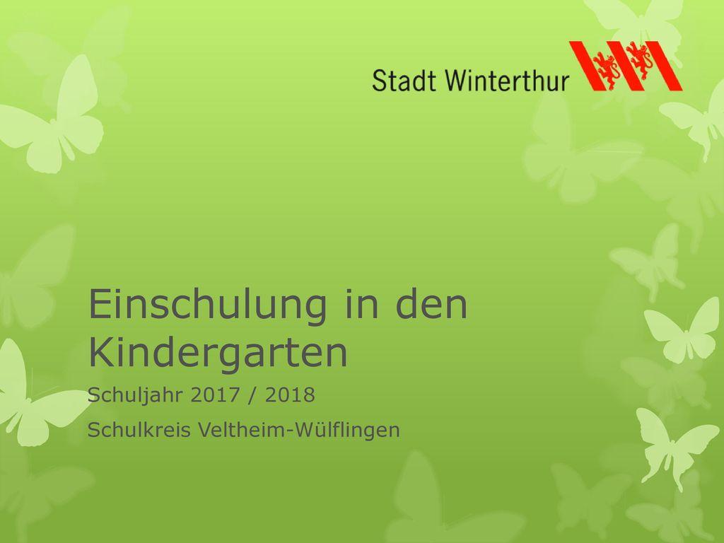 Einschulung in den Kindergarten