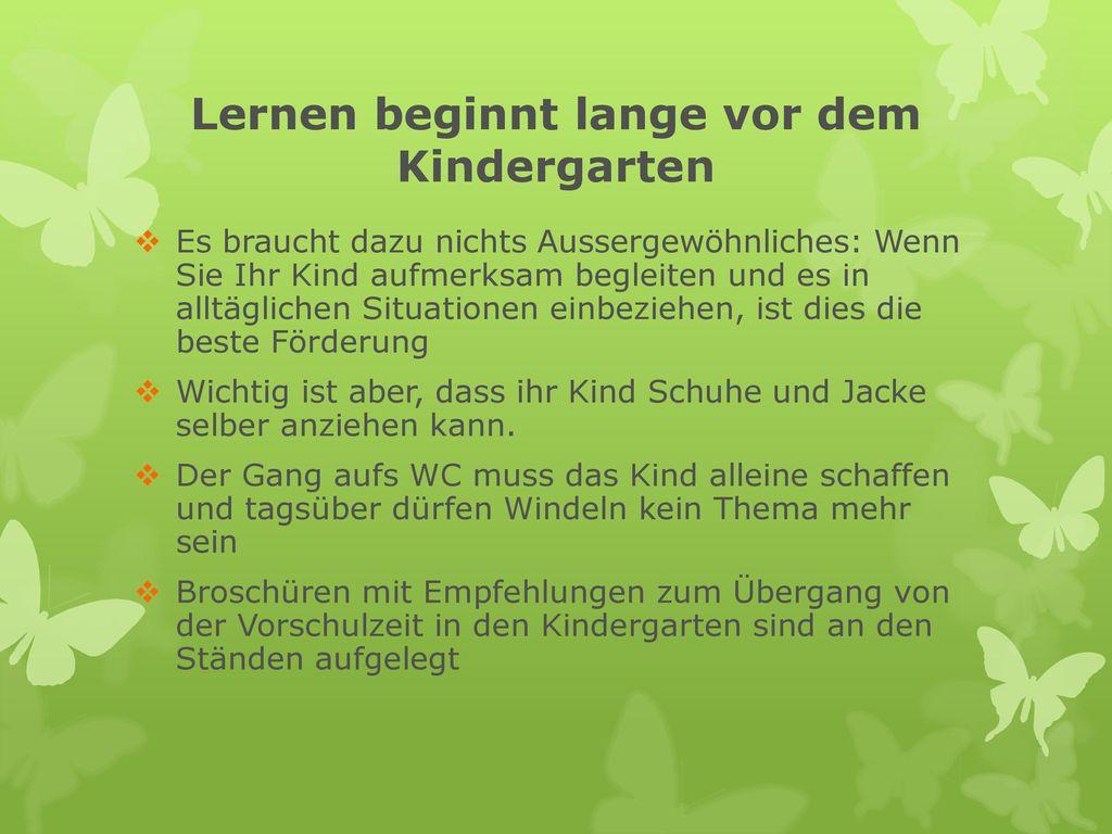 Lernen beginnt lange vor dem Kindergarten
