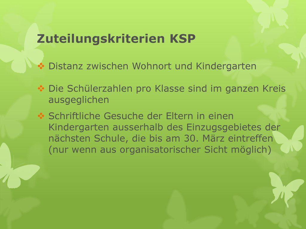 Zuteilungskriterien KSP