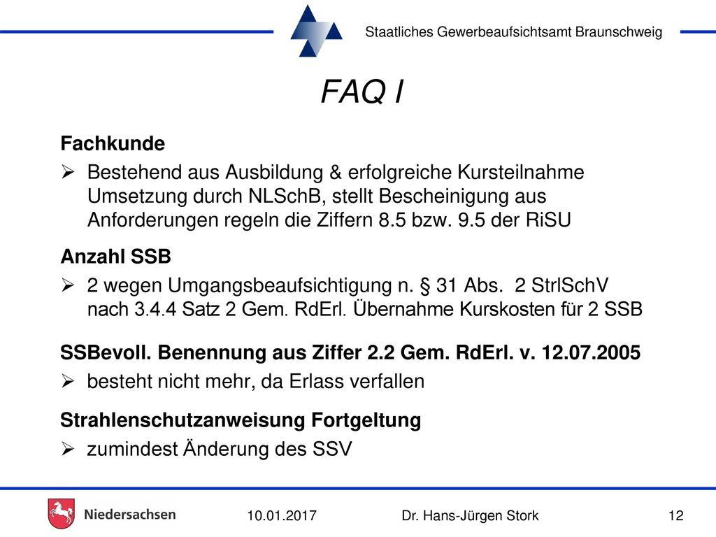 FAQ I Fachkunde.