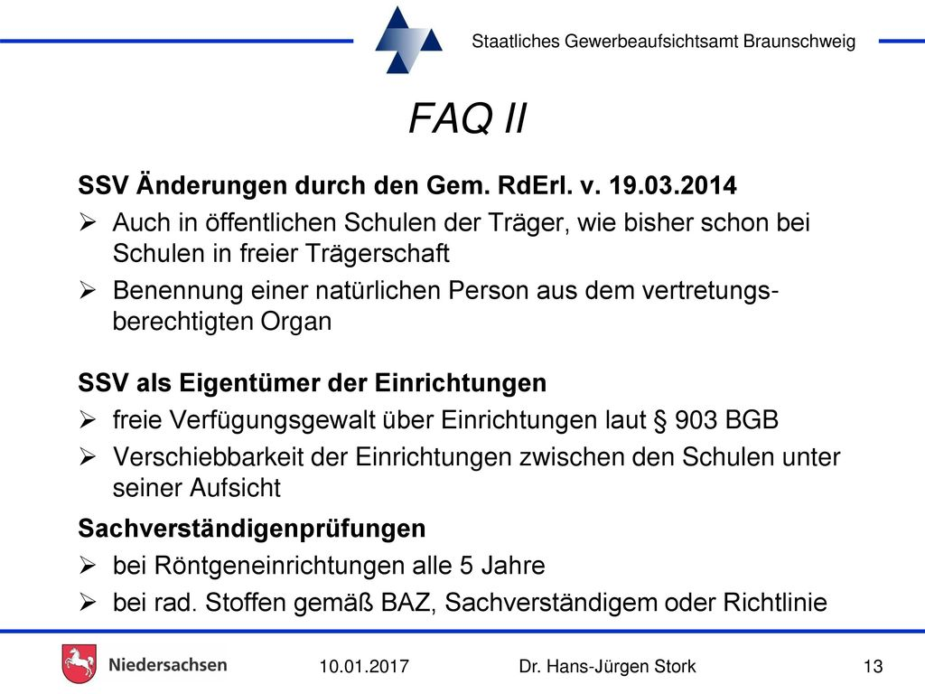 FAQ II SSV Änderungen durch den Gem. RdErl. v. 19.03.2014