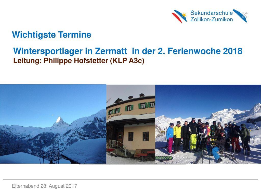 Wintersportlager in Zermatt in der 2. Ferienwoche 2018