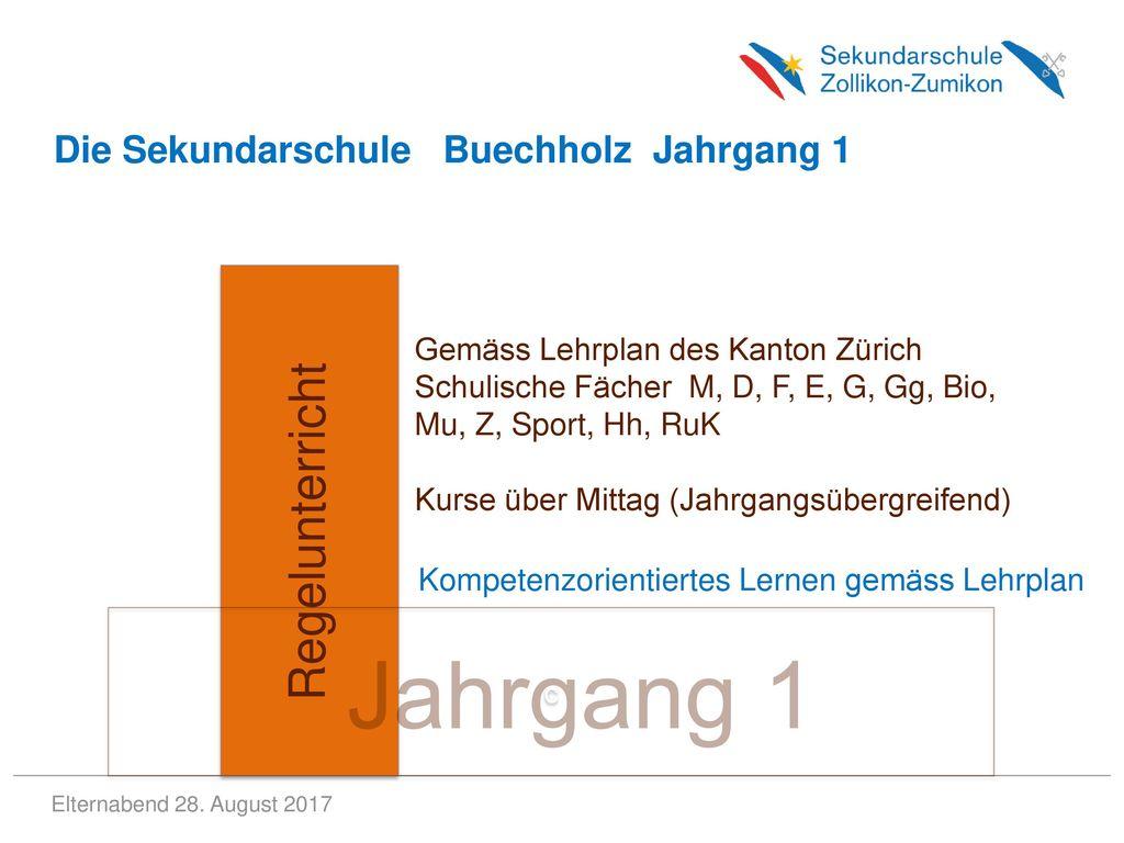 Jahrgang 1 Regelunterricht Die Sekundarschule Buechholz Jahrgang 1