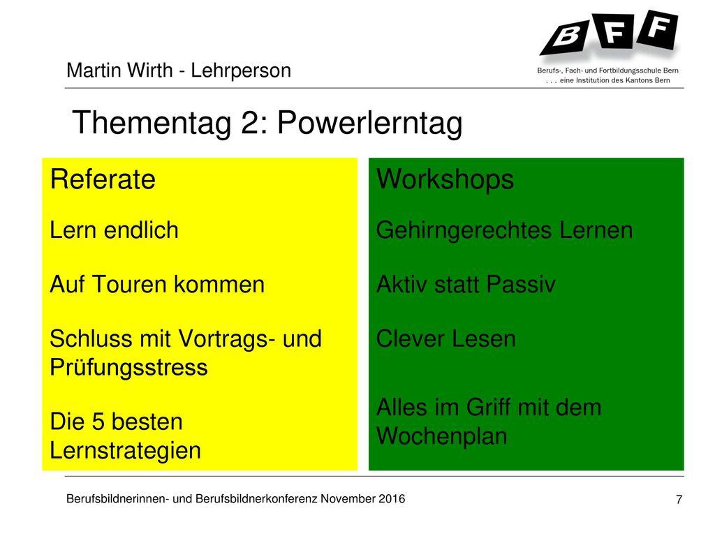 Thementag 2: Powerlerntag