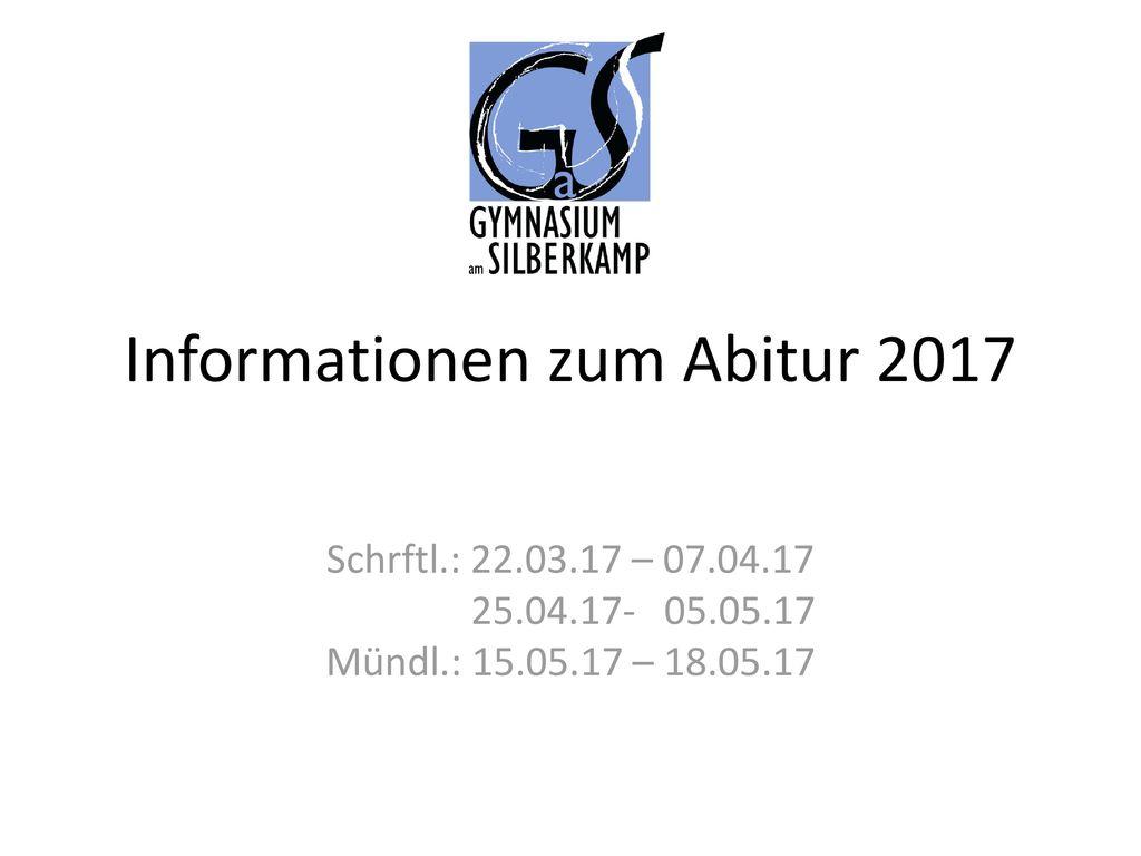 Informationen zum Abitur 2017