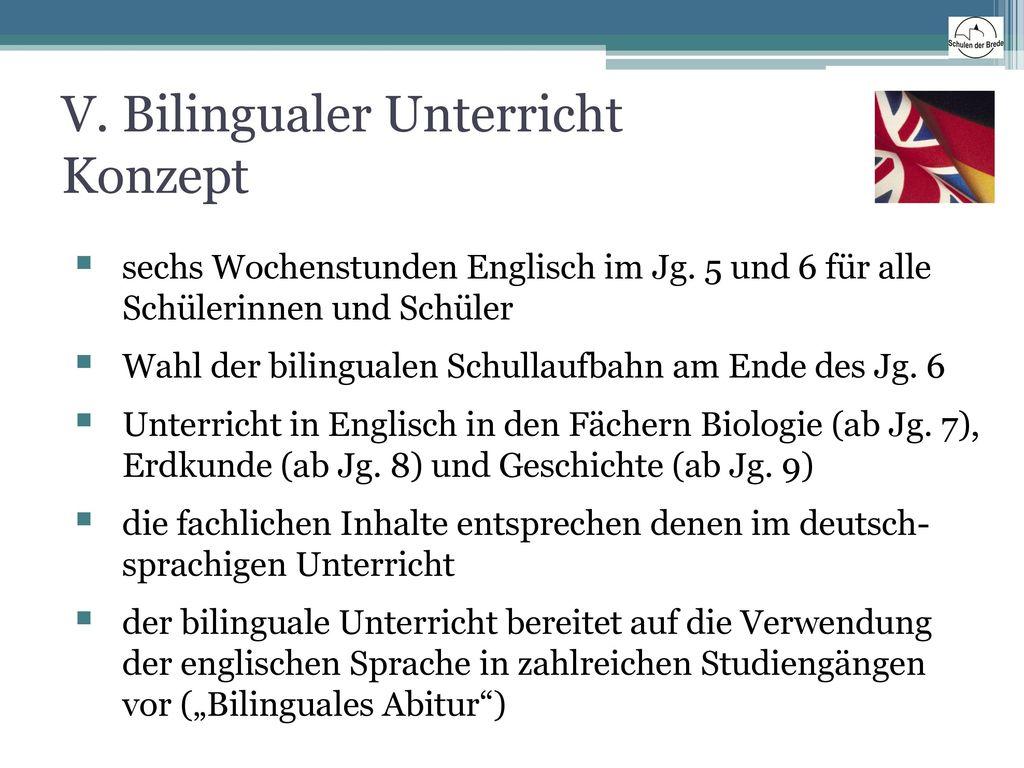 V. Bilingualer Unterricht Konzept