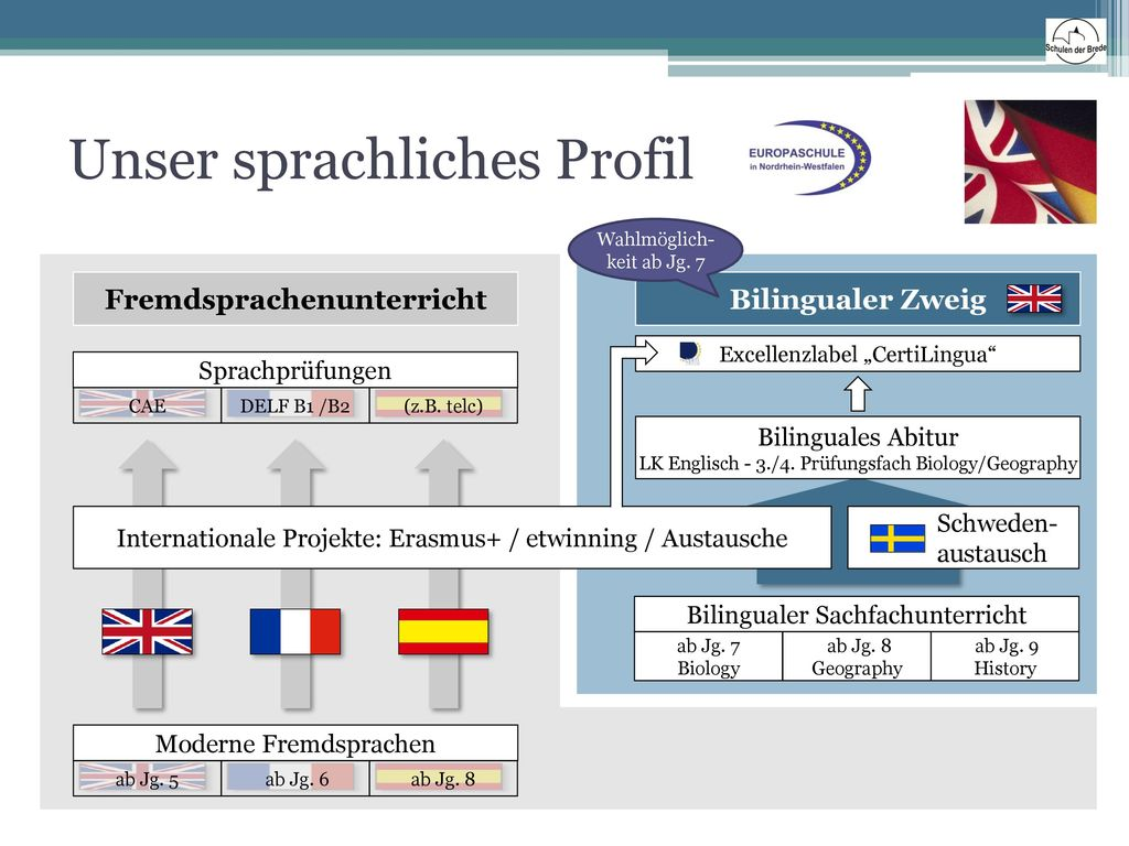 Unser sprachliches Profil