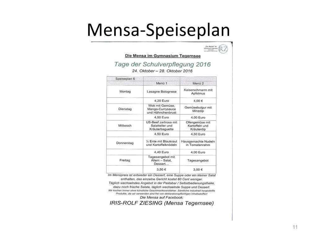 Mensa-Speiseplan 11