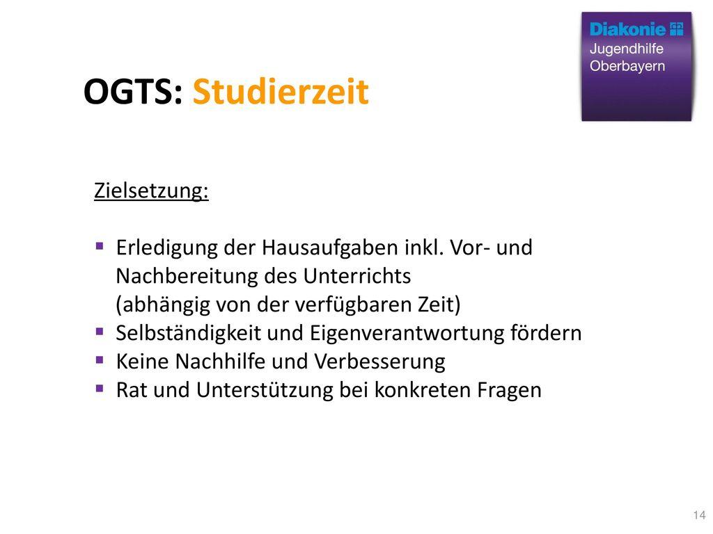 OGTS: Studierzeit Zielsetzung: