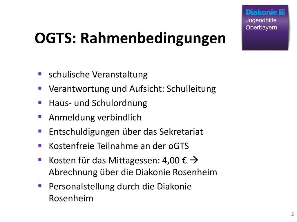 OGTS: Rahmenbedingungen