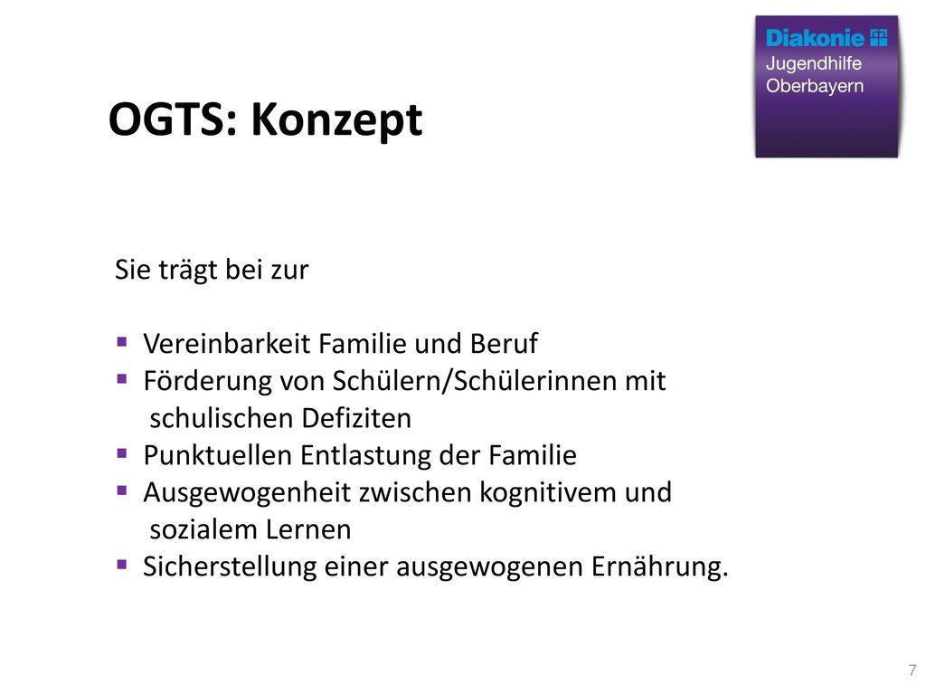 OGTS: Konzept Sie trägt bei zur Vereinbarkeit Familie und Beruf