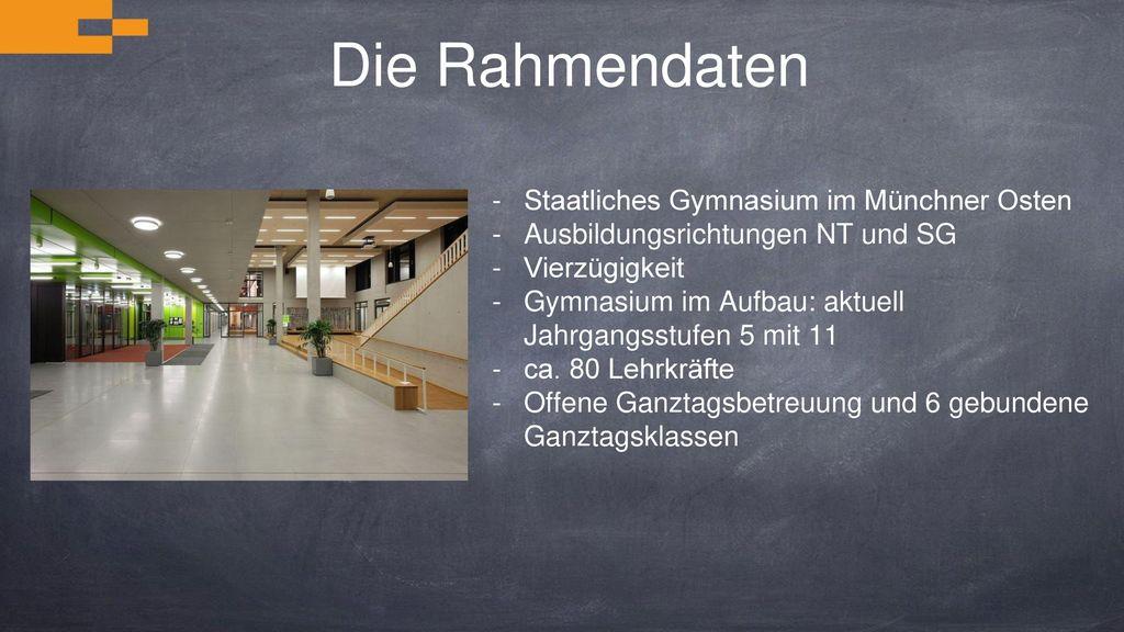 Die Rahmendaten Staatliches Gymnasium im Münchner Osten