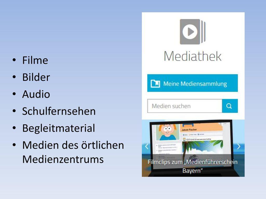 Filme Bilder Audio Schulfernsehen Begleitmaterial Medien des örtlichen Medienzentrums
