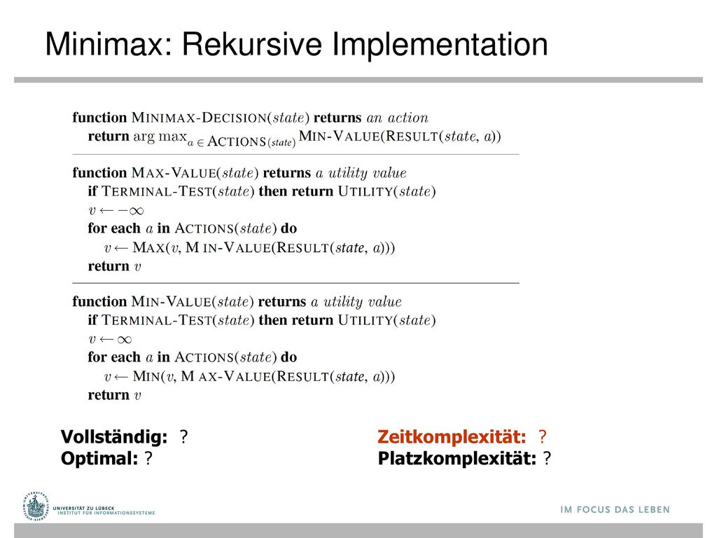 Minimax: Rekursive Implementation