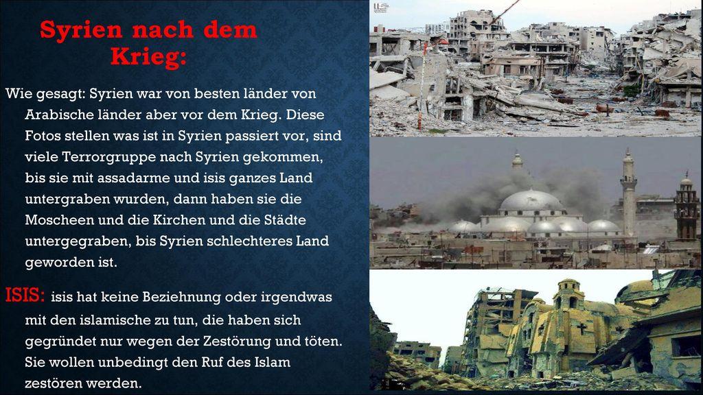 Syrien nach dem Krieg: