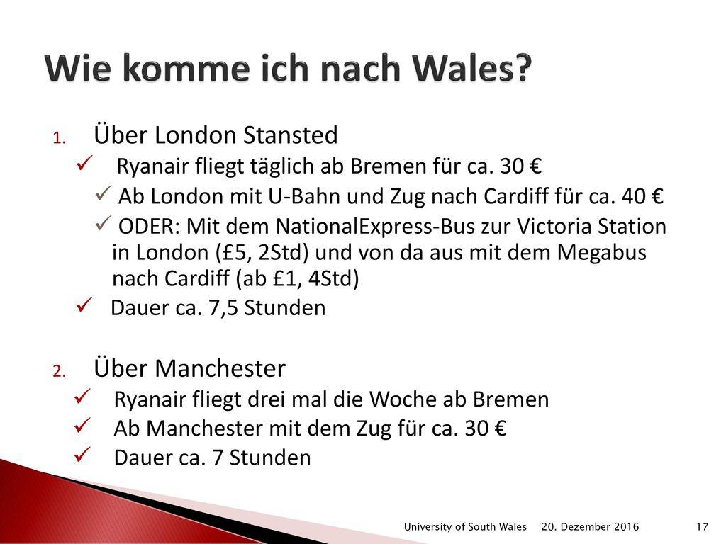 Wie komme ich nach Wales