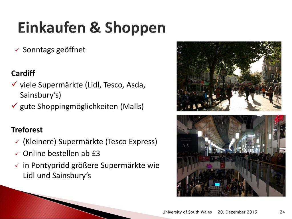 Einkaufen & Shoppen Sonntags geöffnet Cardiff
