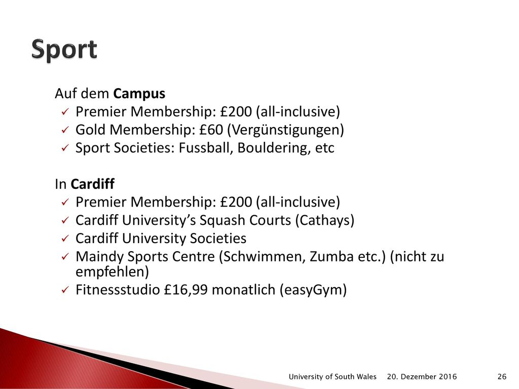 Sport Auf dem Campus Premier Membership: £200 (all-inclusive)
