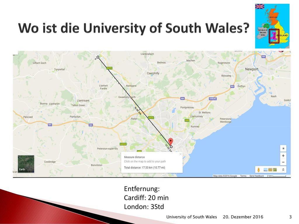 Wo ist die University of South Wales