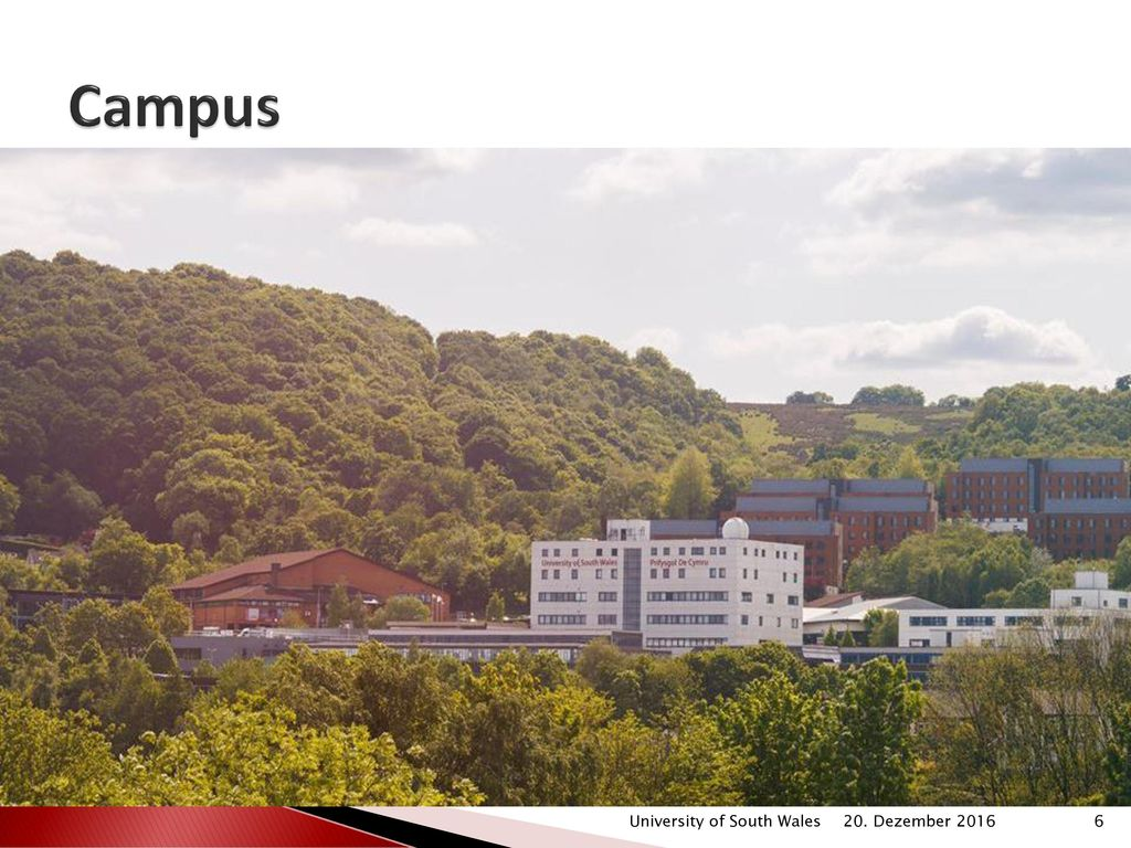 Campus University of South Wales 20. Dezember 2016