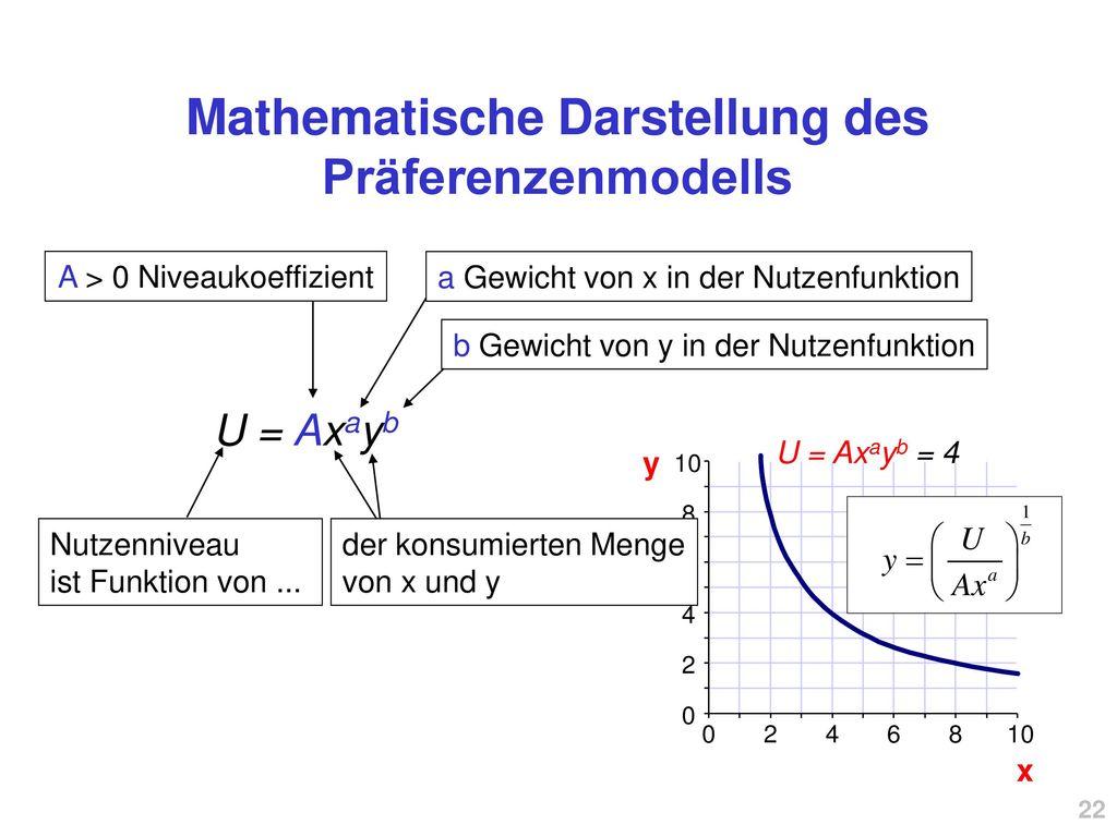 Mathematische Darstellung des Präferenzenmodells