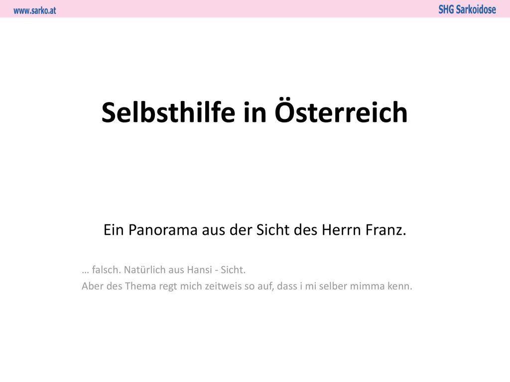 Selbsthilfe in Österreich