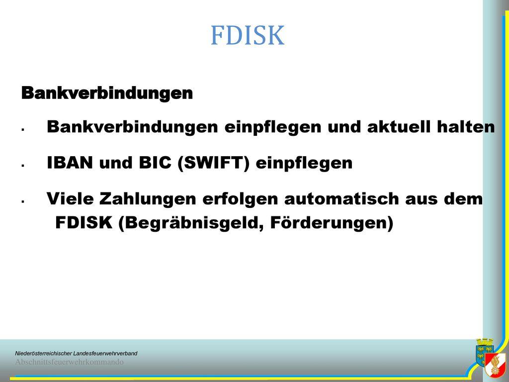 FDISK Lehrgänge BFKDO Verständigung erfolgt ab 2013 per E-Mail