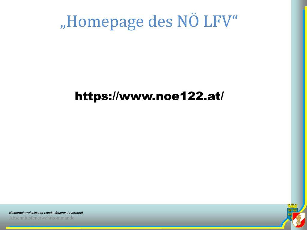 """Homepage des NÖ LFV https://www.noe122.at/"