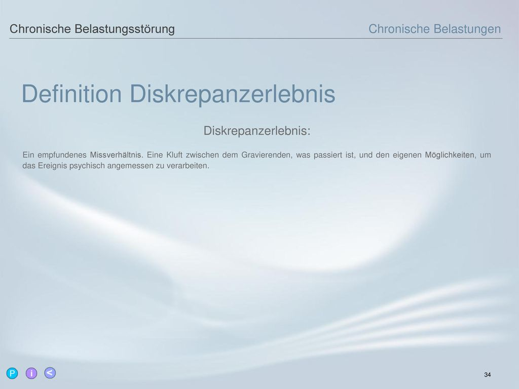 Definition Diskrepanzerlebnis