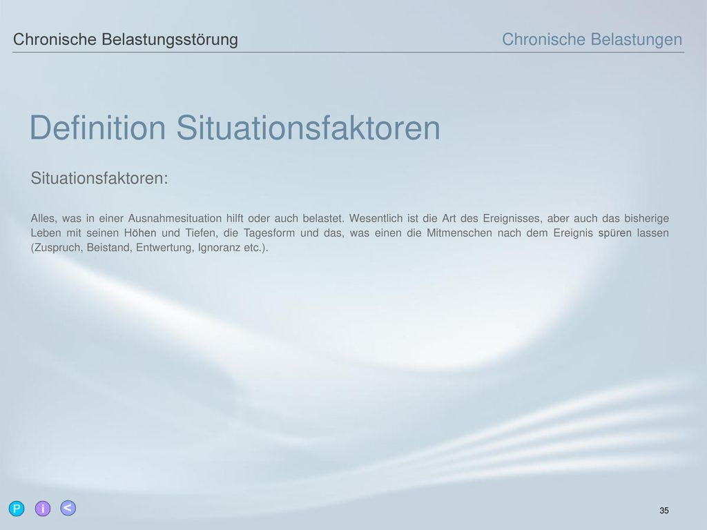 Definition Situationsfaktoren