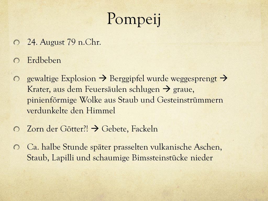Pompeij 24. August 79 n.Chr. Erdbeben