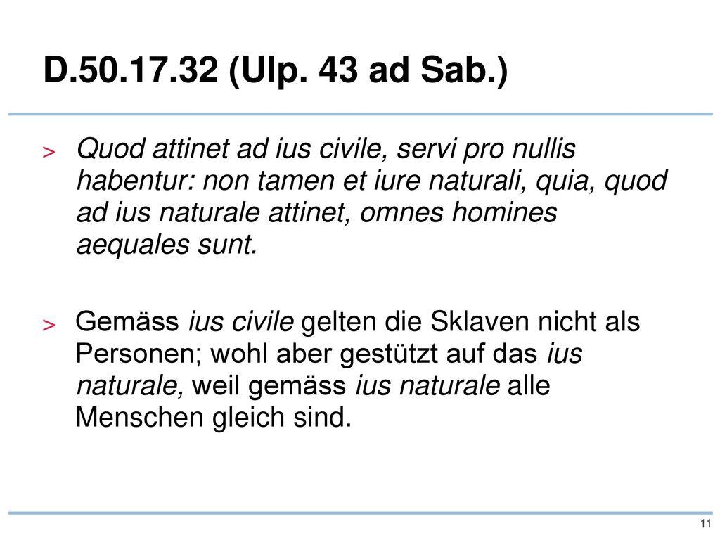D.50.17.32 (Ulp. 43 ad Sab.)